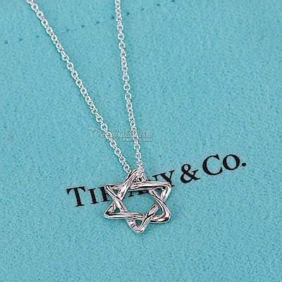 TIFFANY&Co. 大衛之星925純銀項鍊