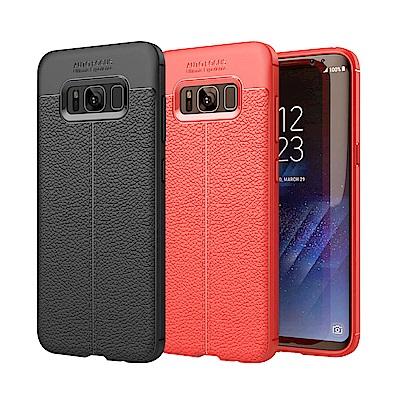 揚邑 Samsung S8 Plus 6.2吋 碳纖維皮革紋軟殼散熱防震抗摔手機殼