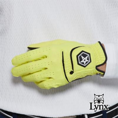 【Lynx Golf】Asher Chuck 多色系列男款防滑彈性高爾夫左手手套-黃色