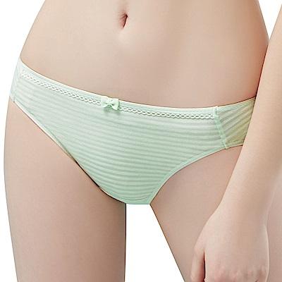 思薇爾 小冰冰純真風系列M-XL素面低腰三角內褲(輕綠色)