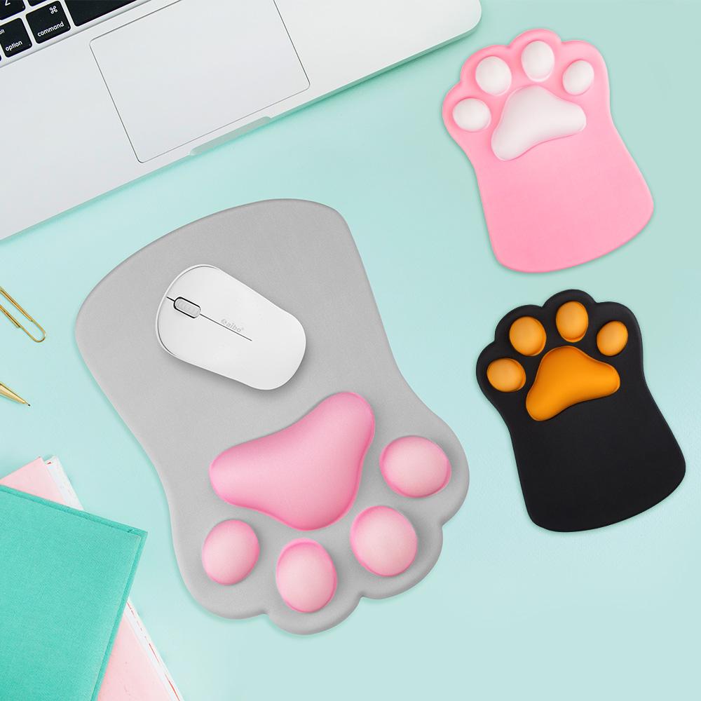 aibo Q彈3D立體貓掌 護腕滑鼠墊
