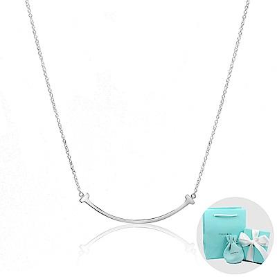 Tiffany&Co. T系列 微笑Smile 經典純銀項鍊