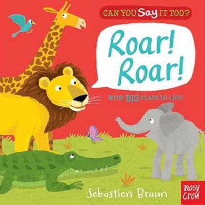 Can You Say It Too? Roar! Roar! 非洲動物翻翻書(美國版)