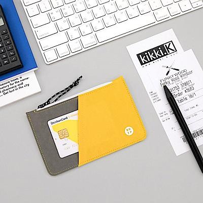 BNTP 雙色票卡零錢包-陽光黃