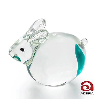 日本Aderia 手作玻璃幸運生肖擺飾-卯(兔)