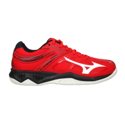 MIZUNO THUNDER BLADE 2 男女排球鞋-2.5E 美津濃 V1GA197063 紅黑白