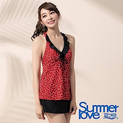 夏之戀SUMMERLOVE 點點長版三件式泳衣