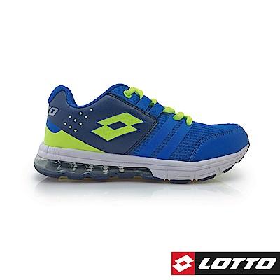 LOTTO 義大利 童 SWIFT RUN 氣墊跑鞋 (藍)
