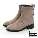 【bac】中性時尚閃耀彈力布短靴-灰