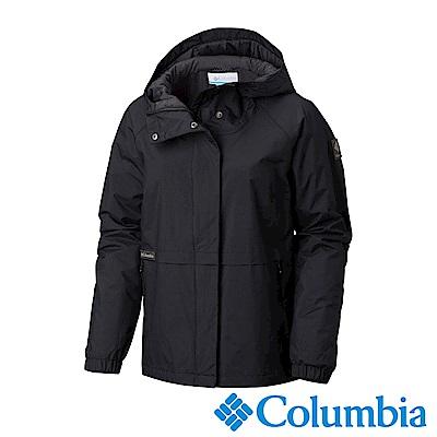 Columbia哥倫比亞 女款-Omni-TECH 防水透氣連帽外套-黑色