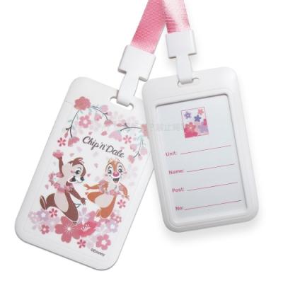 迪士尼櫻花系列 頸掛硬式ID卡套 悠遊卡 識別證票卡夾(奇蒂)