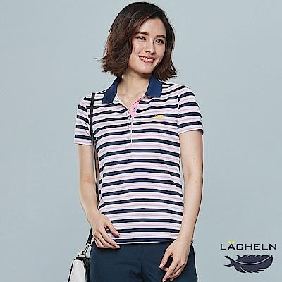 【LACHELN】經典條紋POLO衫-(L82W902)