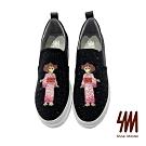 【SM】(預購)蠟筆小新獨家授權-低調真皮鑲鑽厚底修身舒適內增高鞋