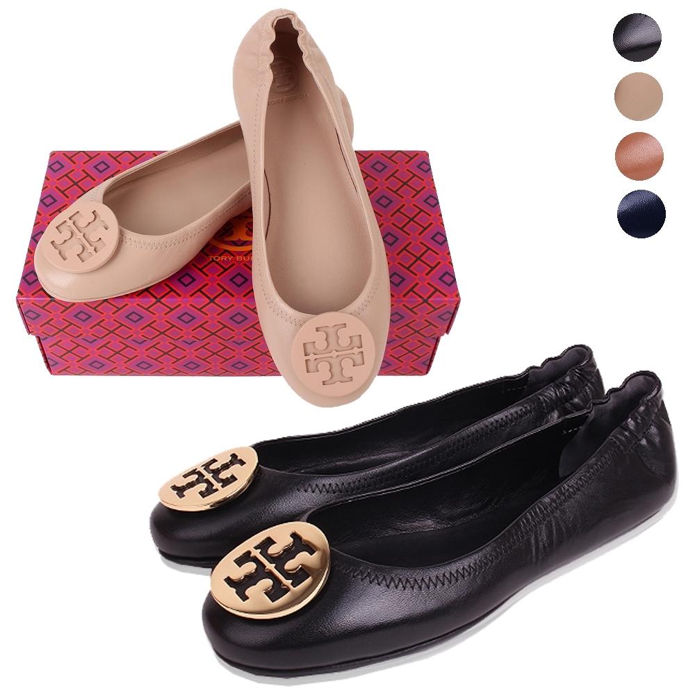 [ 領卷折後$5899] TORY BURCH 金屬盾/琺瑯盾牌飾折疊平底鞋