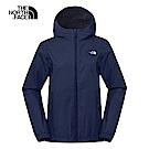 The North Face北面女款藍色防水透氣連帽衝鋒衣 3L8LH2G