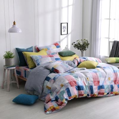 OLIVIA  Picasso 彩色 加大雙人床包兩用被套四件組 200織精梳純棉 台灣製