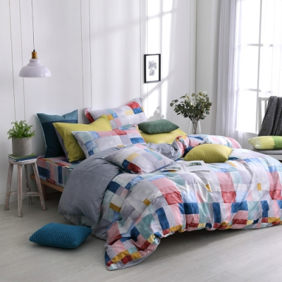 OLIVIA Picasso 彩色 特大雙人床包兩用被套四件組 200織精梳純棉 台灣製