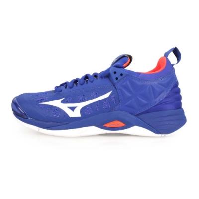 MIZUNO WAVE MOMENTUM 男排球鞋-排球  藍白橘