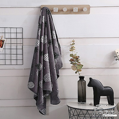 FOCA 菠蘿蜜  北歐風-小清新云芙絨透氣空調毯-韓國設計