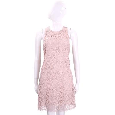 ERMANNO SCERVINO 粉色玫瑰織花蕾絲背心洋裝