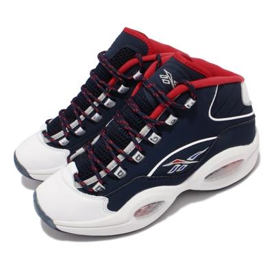 Reebok 籃球鞋 Question Mid 運動 男鞋 美國隊配色 艾佛森 避震 包覆 球鞋 藍 紅 H01281