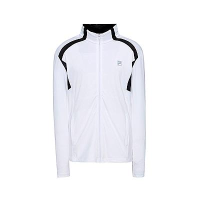 FILA 男吸排針織外套-白 1JKT-1309-WT