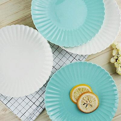 [Caldo卡朵生活] 日式雅菊8吋花皿陶瓷餐盤(買一送一)
