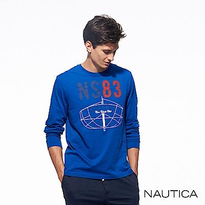 Nautica3D立體船型純棉長袖TEE-寶藍