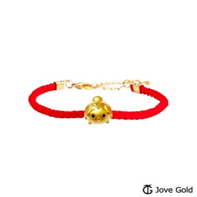 Disney迪士尼系列金飾 TSUM貝兒公主黃金串珠 編繩手鍊款