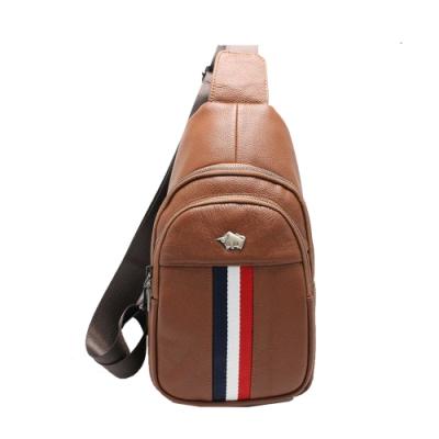 DRAKA達卡 - 路易XIV系列- 牛皮單肩斜背胸包-極咖啡