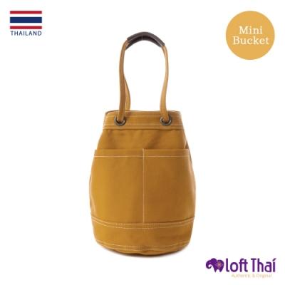 Loft THAI | 泰.兩用帆布水桶包(小) | Mustard