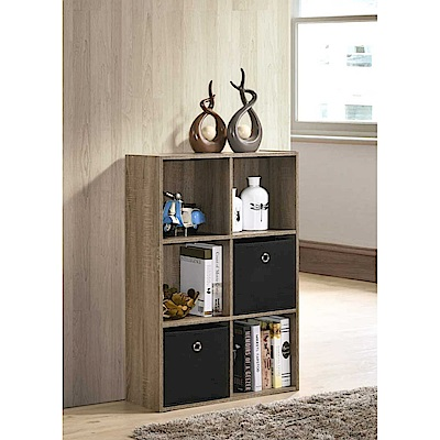 3X2收納盒櫃-淺橡木色