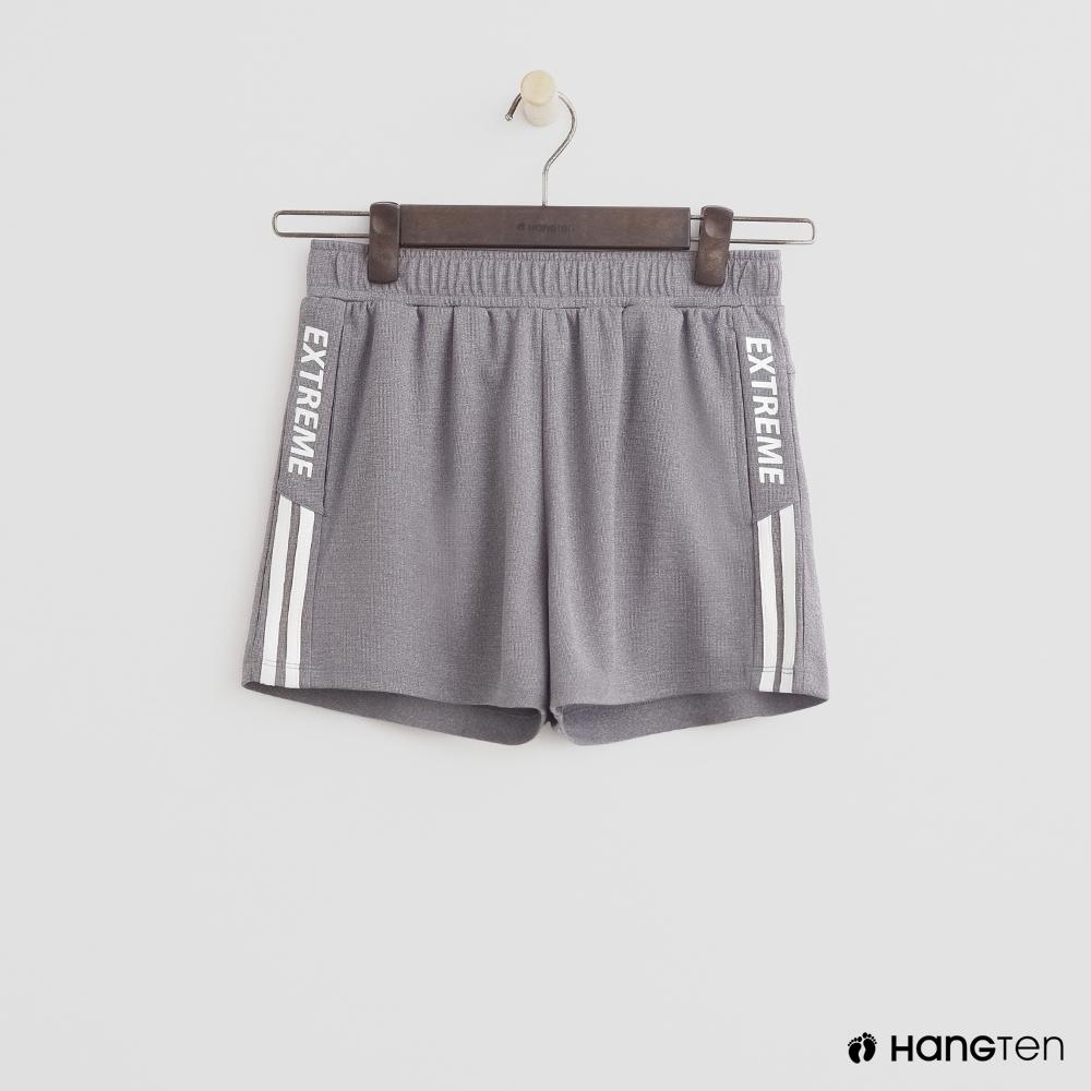 Hang Ten- 青少童裝-腰圍縮口運動短褲-灰