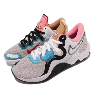 Nike 籃球鞋 Renew Elevate II 運動 男鞋 怪物奇兵 避震 包覆 舒適 球鞋 藍 粉 CW3406-505