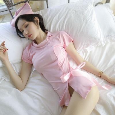 女睡衣-俏皮性感誘惑護士服-EM衣柔魅姬(粉色)