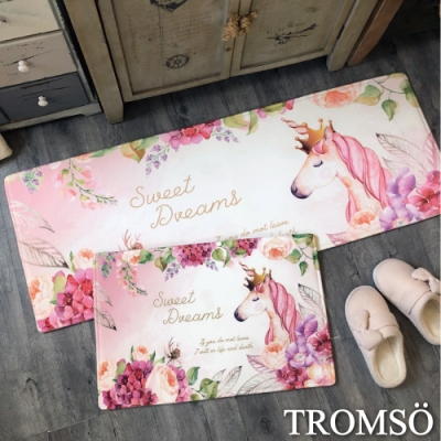 TROMSO 巴黎樂活短毛絨地墊(長 短套組)-M709花境獨角獸