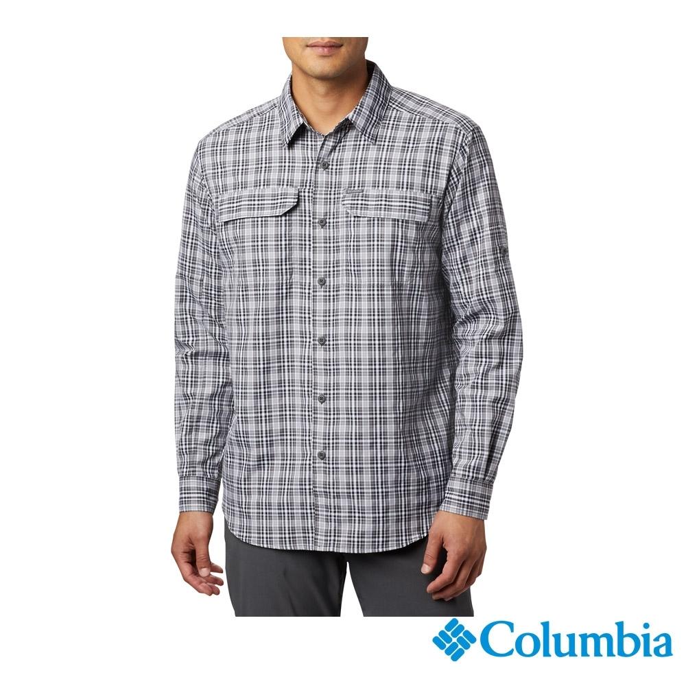 Columbia 哥倫比亞 男款- 防曬UPF50快排長袖襯衫-黑色 UAE06490BK