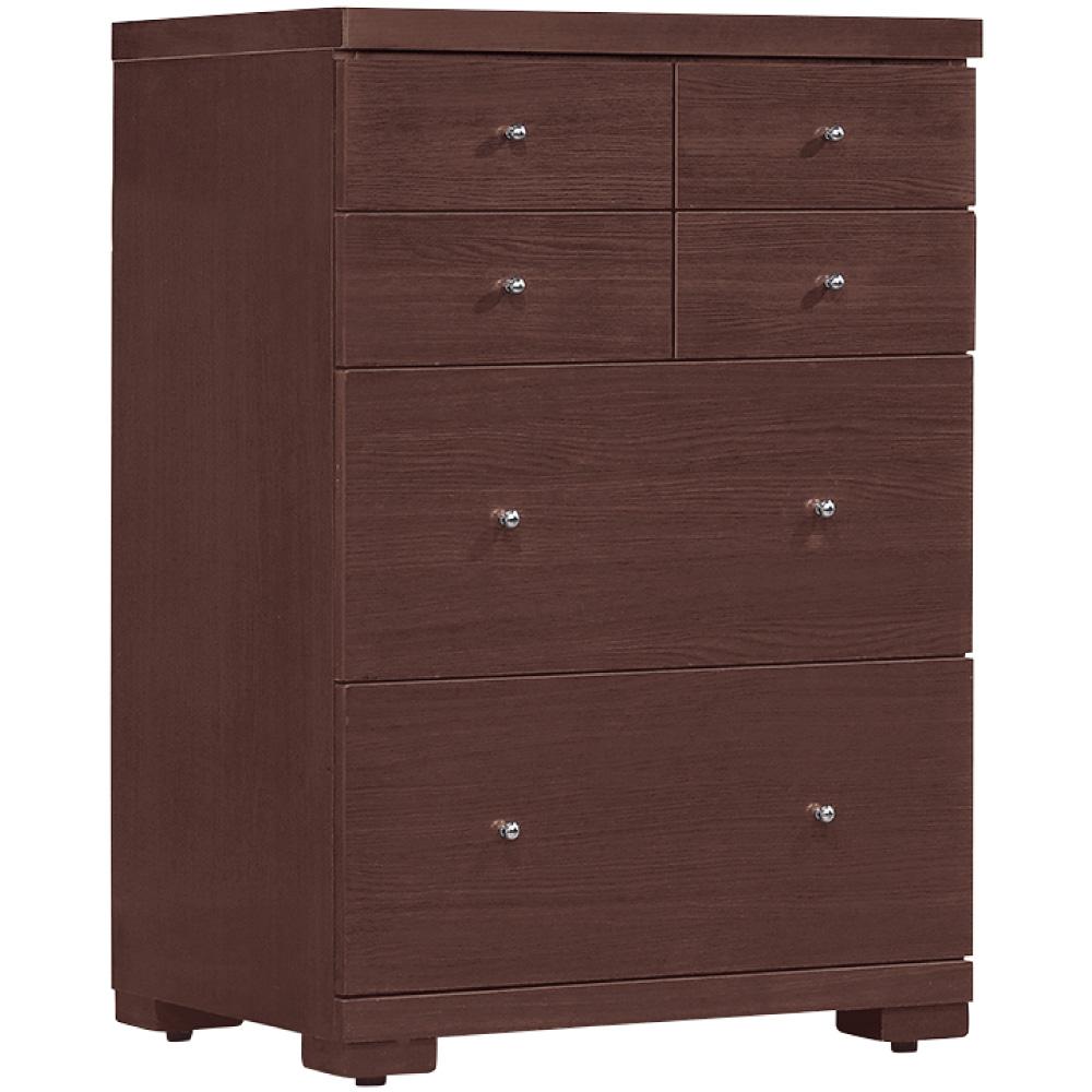 綠活居 派米亞時尚2尺木紋六斗櫃/收納櫃-60x48x94.5cm免組