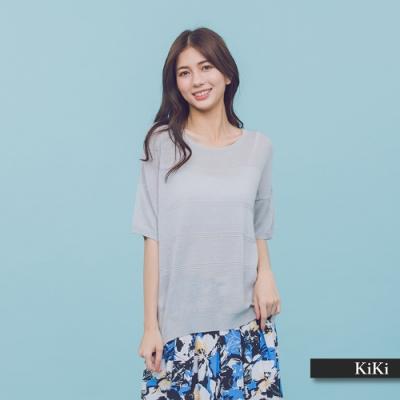 【KiKi】MIT製 涼爽休閒-針織衫(三色)