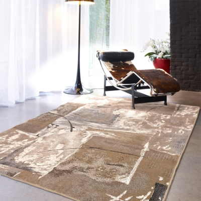 范登伯格 - 絕代 進口絲質地毯-拼圖 (160x230cm)