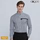 G2000時尚條紋長袖休閒襯衫-深灰色 product thumbnail 1
