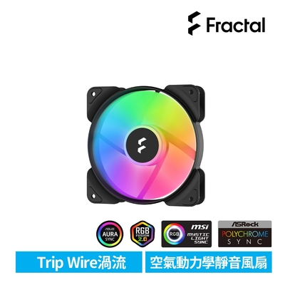 【Fractal Design】Aspect RGB 12cm 散熱風扇-黑