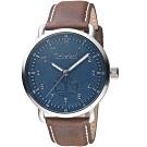 Timberland經典簡約時尚手錶(TBL.15939JS/03)-藍