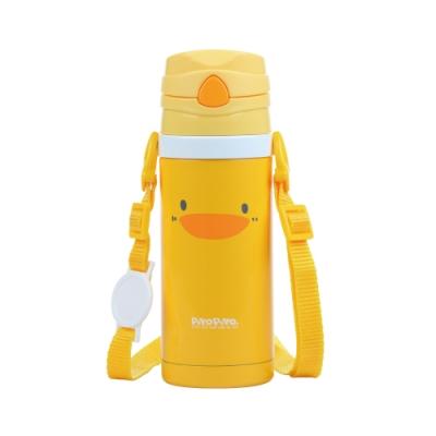 黃色小鴨《PiyoPiyo》不鏽鋼真空吸管隨行杯