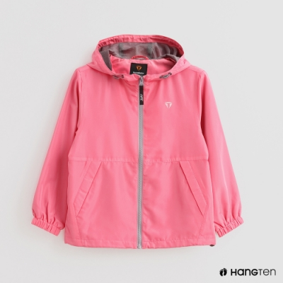 Hang Ten -童裝 -ThermoContro-純色連帽休閒外套-粉