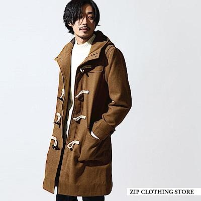 長版羊毛牛角釦外套(6色) ZIP日本男裝