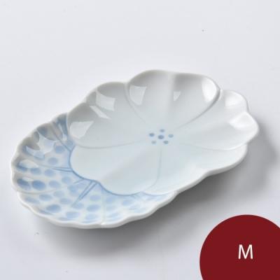 Hakusan 白山陶 農場動物 前菜餐盤 花 16.5cm