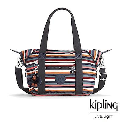 KIPLING繽紛仲夏條紋手提側背包(小)