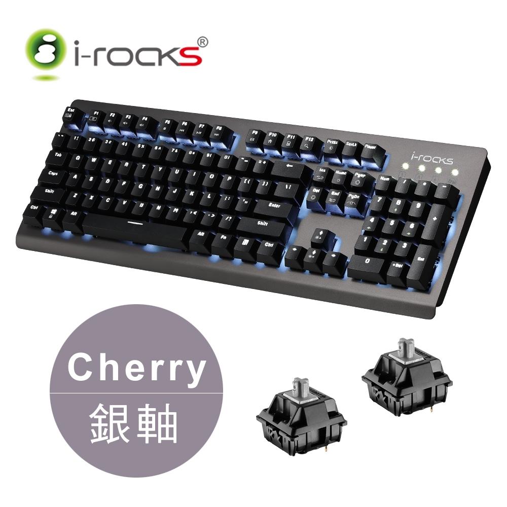 irocks K65MS單色背光機械式鍵盤-德國Cherry銀軸