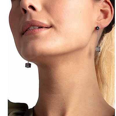 CALVIN KLEIN  Rocking系列時尚方塊珠立體造型耳環